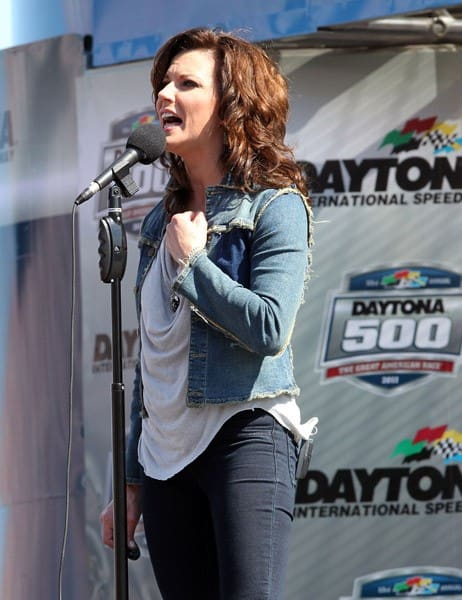Martina McBride performs at the Daytona 500 at Daytona International Speedway on February 20, 2011 in Daytona Beach, Florida.