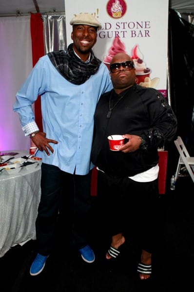 John Salley and Cee Lo Green attend the GRAMMY Gift Lounge at the Staples Center on February 11, 2011 in Los Angeles, California.