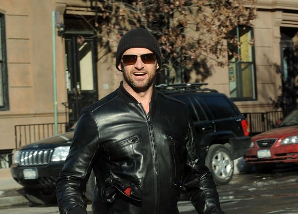 Hugh Jackman and his daughter, Ava Jackman, are seen on the streets of Manhattan on February 14, 2011 in New York City.