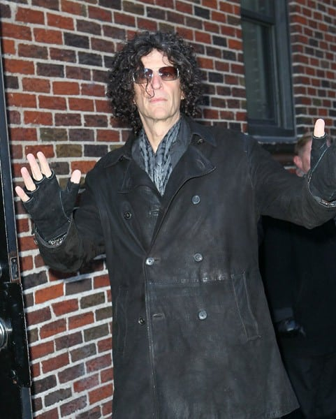 Howard Stern arrives at 'Late Show With David Letterman' at the Ed Sullivan Theater on February 3, 2011 in New York City.