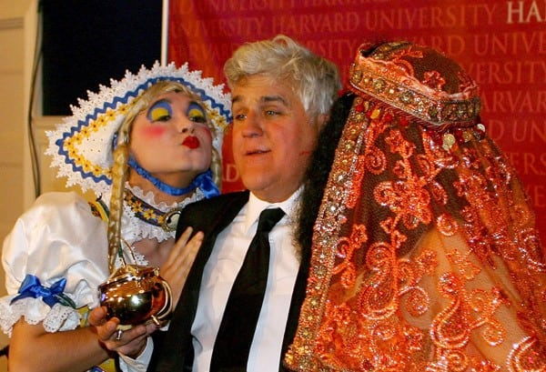Jay Leno attends the Hasty Pudding Club's 2011 Man of the Year ceremony at Harvard University on February 4, 2011 in Cambridge, Massachusetts.