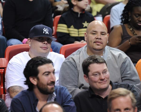 Fat Joe attends The Miami Heat vs New York Knicks Games at American Airlines Arena on February 27, 2011 in Miami, Florida.