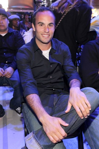Los Angeles Galaxy player Landon Donovan attends the Cartoon Network Hall of Game Awards held at The Barker Hanger on February 21, 2011 in Santa Monica, California.