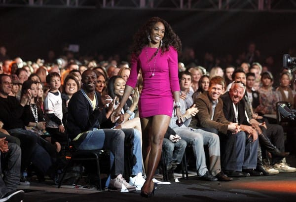 Venus Williams attends the Cartoon Network Hall of Game Awards held at The Barker Hanger on February 21, 2011 in Santa Monica, California.