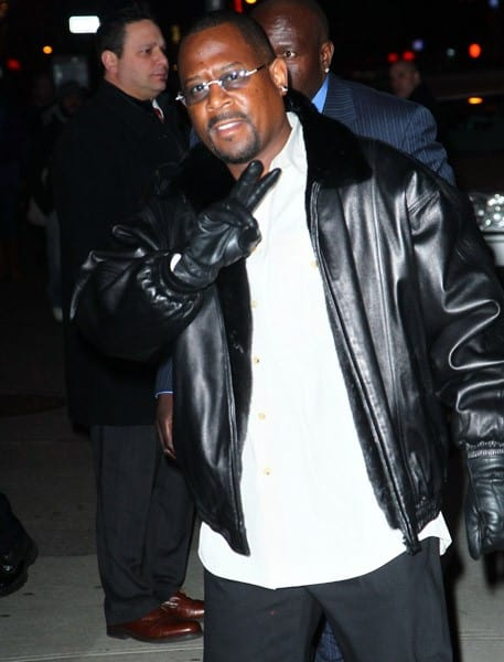 Actor Martin Lawrence arrives at 'Late Show With David Letterman' at the Ed Sullivan Theater on February 7, 2011 in New York City.