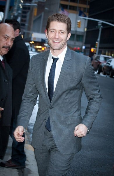 'Glee' Actor Matthew Morrison visits 'Late Show With David Letterman' at the Ed Sullivan Theater on February 21, 2011 in New York City.