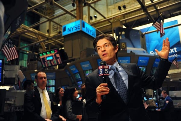 Dr. Mehmet Oz visits the New York Stock Exchange on February 7, 2011 in New York City.