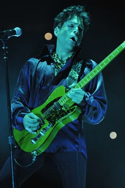Prince performs during his 'Welcome 2 America' tour at Madison Square Garden on February 7, 2011 in New York City.