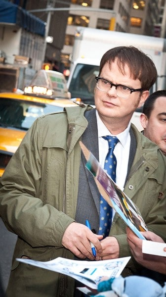 Actor/Comedian Rainn Wilson visits the 'Late Show With David Letterman' at the Ed Sullivan Theater on February 23, 2011 in New York City.