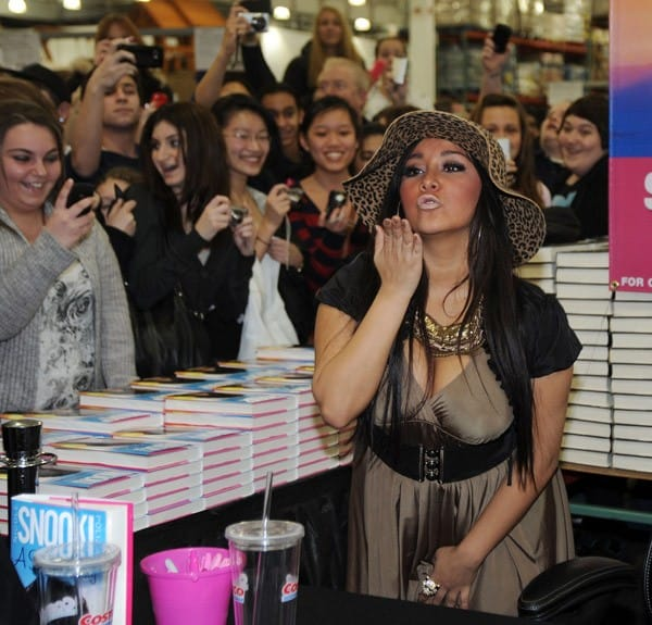 Nicole 'Snooki' Polizzi promotes 'A Shore Thing' at Costco Wholesale Club on February 26, 2011 in East Hanover, New Jersey.