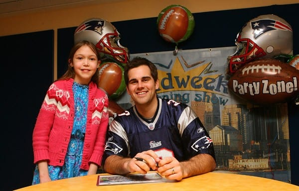 New England Patriots player Stephen Gostkowski visits patients at Children's Hospital Boston on February 16, 2011 in Boston, Massachusetts