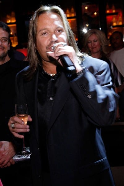 Vince Neil speaks at his 50th birthday celebration at the Blush Boutique Nightclub inside the Wynn Las Vegas on February 5, 2011 in Las Vegas, Nevada.