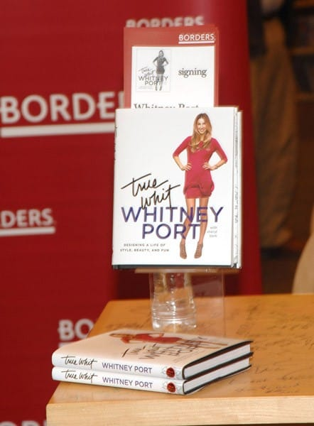 Whitney Port signs copies of her new book 'True Whit' at Borders on February 13, 2011 in Century City, California.