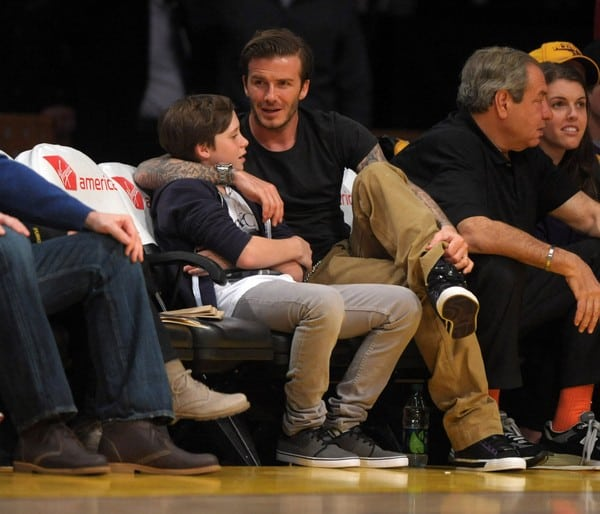 David Beckham Attends the Game Between the New Orleans Hornets and the Los Angeles Lakers on March 27, 2011 at the Staples Center in Los Angeles, California.