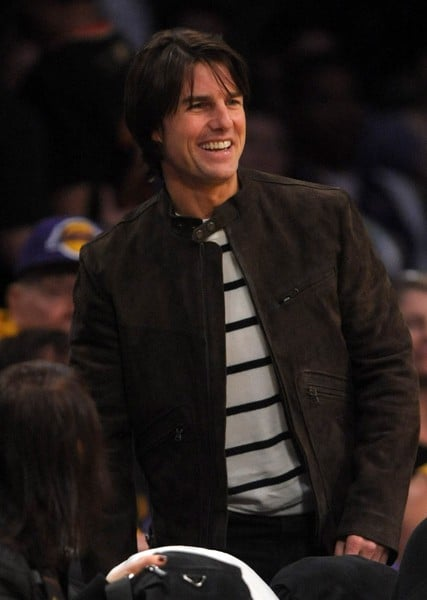 Tom Cruise Attends the Game Between the New Orleans Hornets and the Los Angeles Lakers on March 27, 2011 at the Staples Center in Los Angeles, California.
