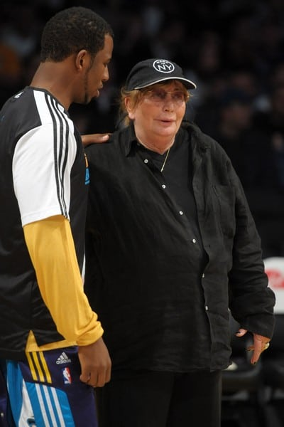 Chris Paul and Penny Marshall Attend the Game Between the New Orleans Hornets and the Los Angeles Lakers on March 27, 2011 at the Staples Center in Los Angeles, California.