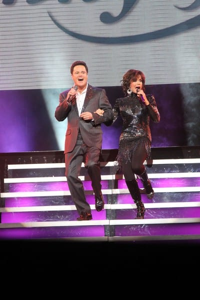 Donny and Marie Osmond Celebrate Their 500th Show at the Flamingo in Las Vegas, Nevada on March 23, 2011