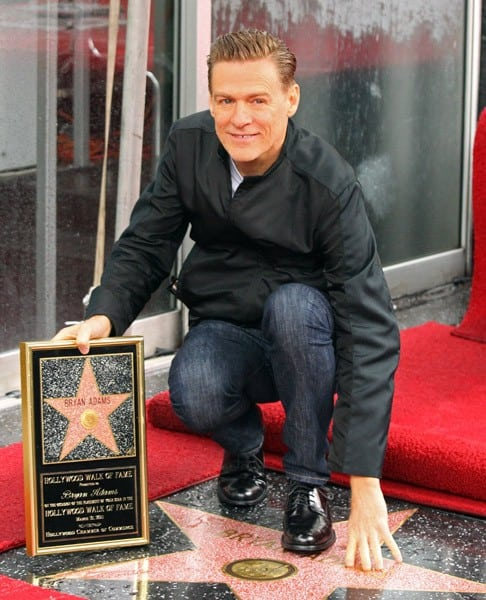 Bryan Adams attends the ceremony honoring him with a Star on the Hollywood Walk of Fame on March 21, 2011 in Hollywood, California.