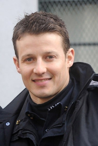 Will Estes and Nicholas Turturro filming on location for 'Blue Bloods' on the streets of Manhattan on March 4, 2011 in New York City.