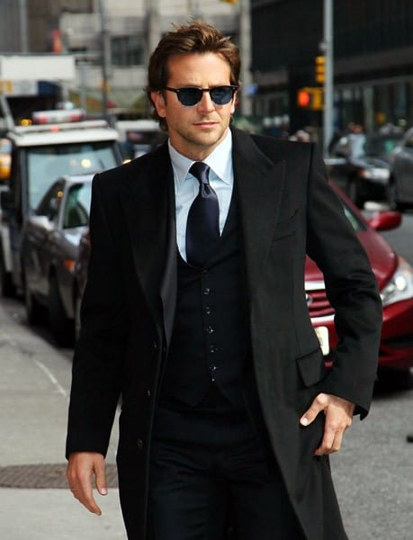 Actor Bradley Cooper visits 'Late Show With David Letterman' at the Ed Sullivan Theater on March 15, 2011 in New York City.