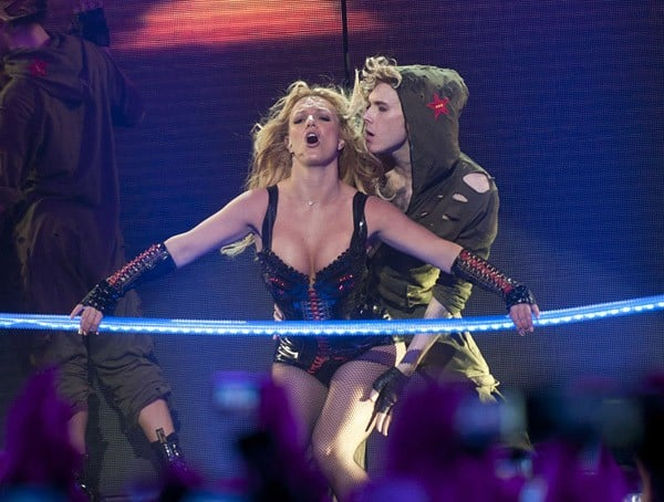 Britney Spears performs at the Bill Graham Civic Auditorium on March 27, 2011 in San Francisco, California.