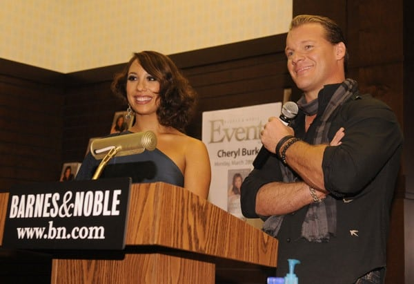 Kirstie Alley, Wrestler Chris Jericho and professional dancer Cheryl Burke attend Cheryl Burke And Chris Jericho Sign Copies Of Their Books 'Dancing Lessons' And 'Undisputed' at Barnes & Noble bookstore at The Grove on March 28, 2011 in Los Angeles, California.