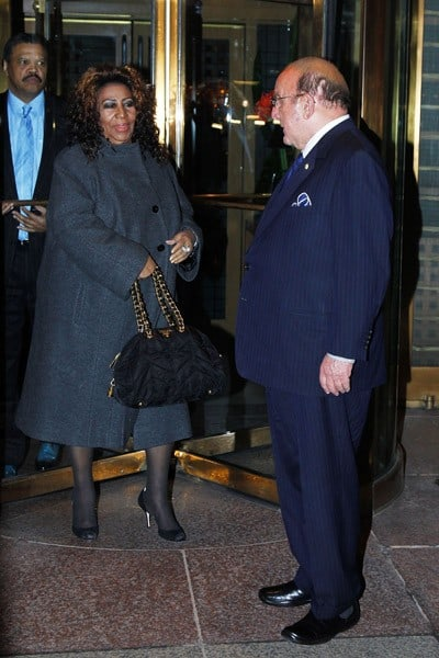 Clive Davis and Aretha Franklin sighting at Le Bernardin on March 24, 2011 in New York City.
