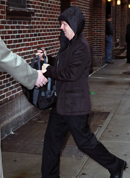 Actor Dana Carvey departs 'Late Show With David Letterman' at the Ed Sullivan Theater on March 21, 2011 in New York City.
