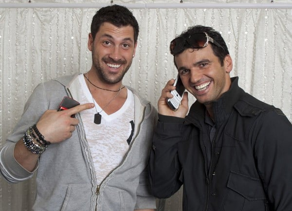 Professional dancers Maksim Chmerkovskiy and Tony Dovolani attend the Gifting Services Suite Honoring Dancing With The Stars - Day 1 at CBS Studios on March 20, 2011 in Los Angeles, California.