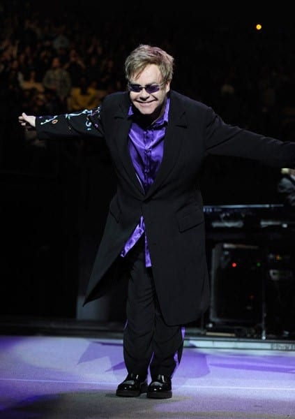 Elton John performs at Madison Square Garden on March 16, 2011 in New York City.