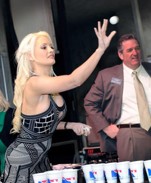 Television personality and model Holly Madison attends the kickoff of O'Sheas' three-day block party in celebration of St. Patrick's Day at O'Sheas Casino on March 17, 2011 in Las Vegas, Nevada.