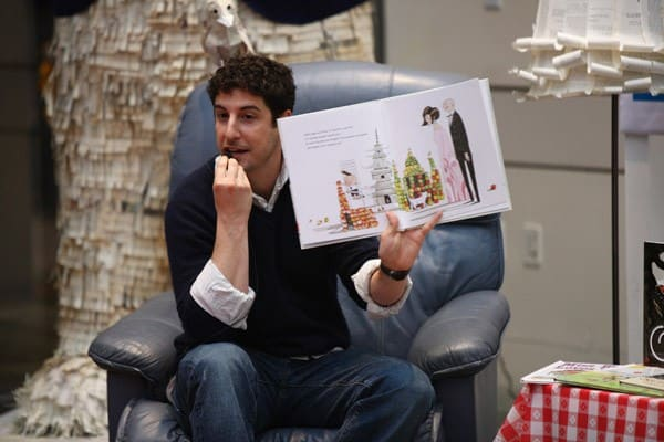 Jason Biggs attends the Milk + Bookies Second Annual Reading Room Sponsored By Children's Book Of The Month Club at Skirball Cultural Center on March 20, 2011 in Los Angeles, California.