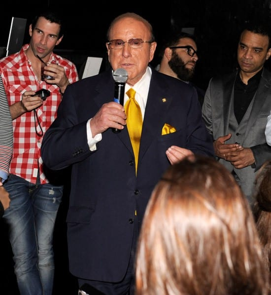 Jennifer Hudson and Clive Davis attend the album release party for Jennifer Hudson's 'I Remember Me' at Tenjune on March 21, 2011 in New York City.