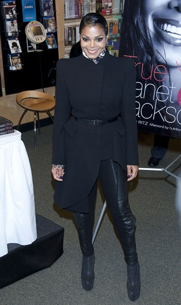 Janet Jackson promotes 'TRUE YOU: A Guide To Finding And Loving Yourself' at Barnes & Noble, 5th Avenue on March 19, 2011 in New York City.