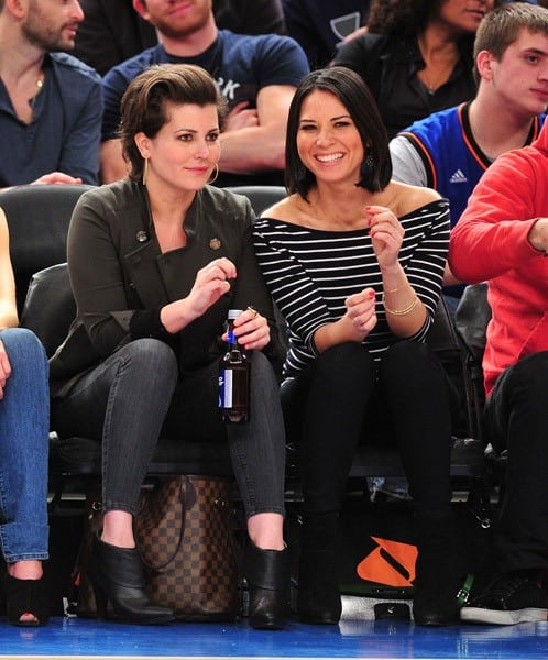Olivia Munn attends the Indiana Pacers vs New York Knicks game at Madison Square Garden on March 13, 2011 in New York, New York.