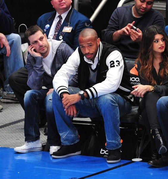 New York Red Bulls player Thierry Henry attends the Memphis Grizzlies vs New York Knicks game at Madison Square Garden on March 17, 2011 in New York City.