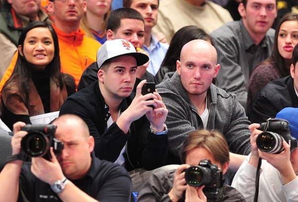 Vinny Guadagnino attends the Indiana Pacers vs New York Knicks game at Madison Square Garden on March 13, 2011 in New York, New York.
