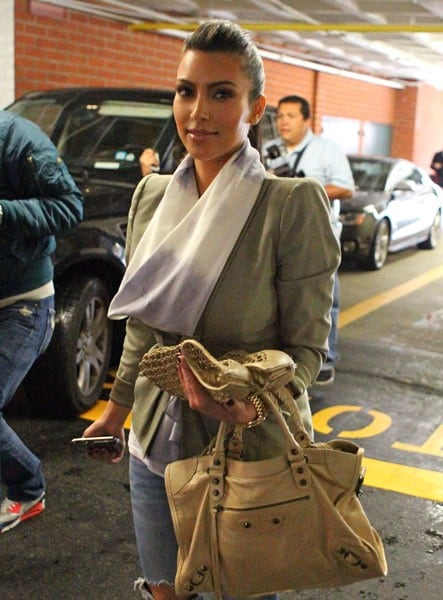Kim Kardashian is seen at Nail Garden on March 23, 2011 in Los Angeles, California.