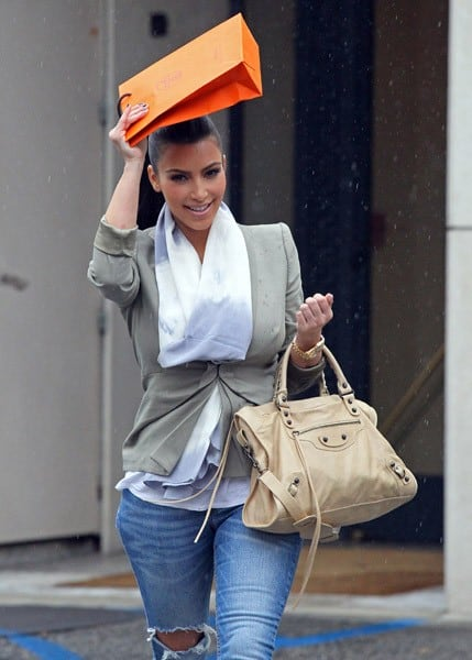 Kim Kardashian shops at Hermes on March 23, 2011 in Los Angeles, California.
