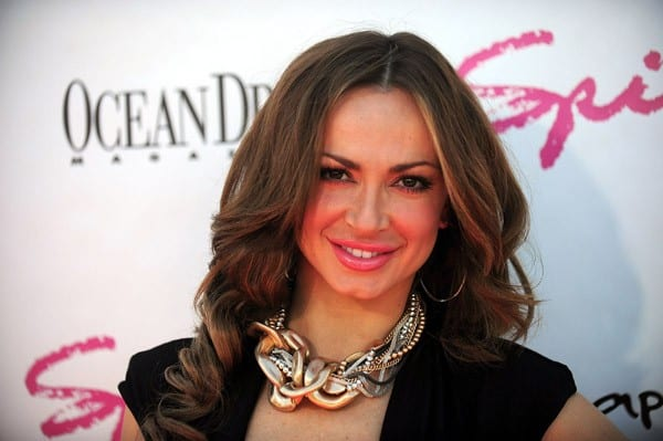Karina Smirnoff attends the Spiegel Swim and Travel Launch Party at Gansevoort South on March 13, 2011 in Miami Beach, Florida.