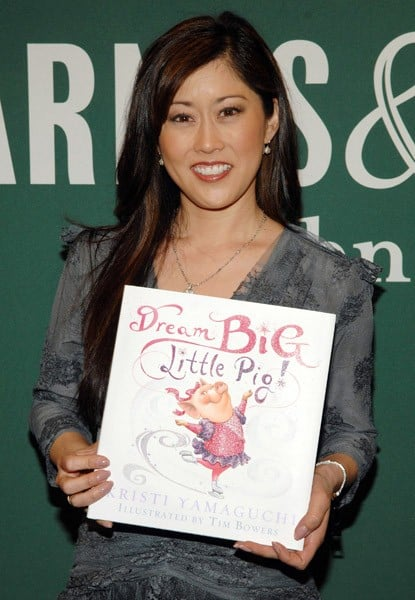 Kristi Yamaguchi signs copies of her children's book 'Dream Big, Little Pig!' at Barnes & Noble bookstore at The Grove on March 21, 2011 in Los Angeles, California.