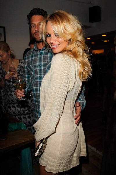 Actor Pamela Anderson attends Sunset Cocktails Presented By Leifsdottir on March 12, 2011 in Sherman Oaks, California.