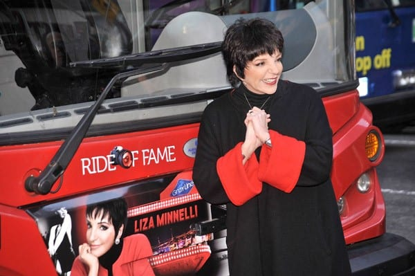 Singer Liza Minnelli attends Gray Line New York's ribbon cutting ceremony honoring Liza Minnelli in Times Square on March 8, 2011 in New York City.