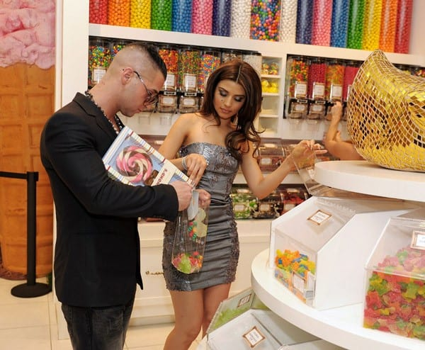 Marcy Depena and Mike 'The Situation' Sorrentino shop at Sugar Factory on March 11, 2011 in Las Vegas, Nevada.