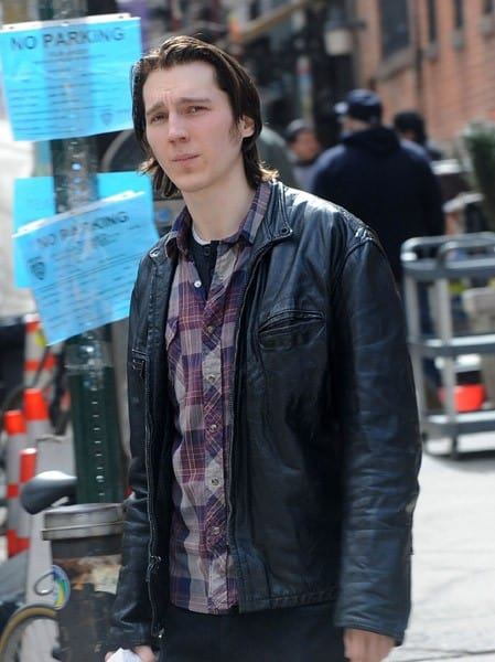 Paul Dano filming on location for 'Another Night' on the streets of Manhattan on March 14, 2011 in New York City.