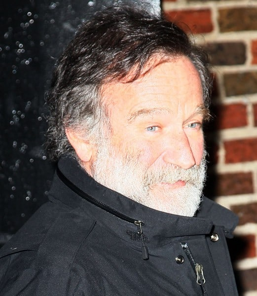 Actor Robin Williams arrives at 'Late Show With David Letterman' at the Ed Sullivan Theater on February 28, 2011 in New York City.