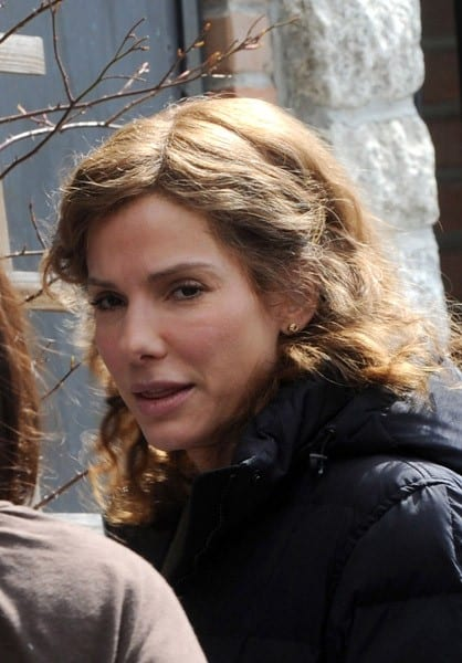 Sandra Bullock filming on location for 'Extremely Loud and Incredibly Close' on the streets of Brooklyn on March 18, 2011 in New York City.
