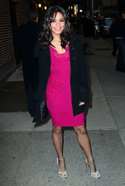 Actress/singer Vanessa Hudgens visits 'Late Show With David Letterman' at the Ed Sullivan Theater on March 2, 2011 in New York City.