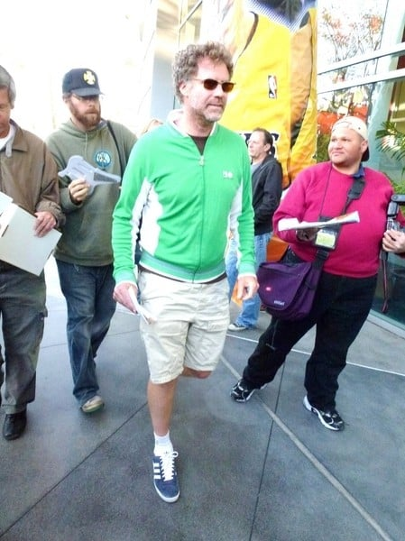 Will Ferrell is seen at the Los Angeles Lakers versus Oklahoma City Thunder Basketball Game on April 10, 2011 at the Staples Center in Los Angeles, California