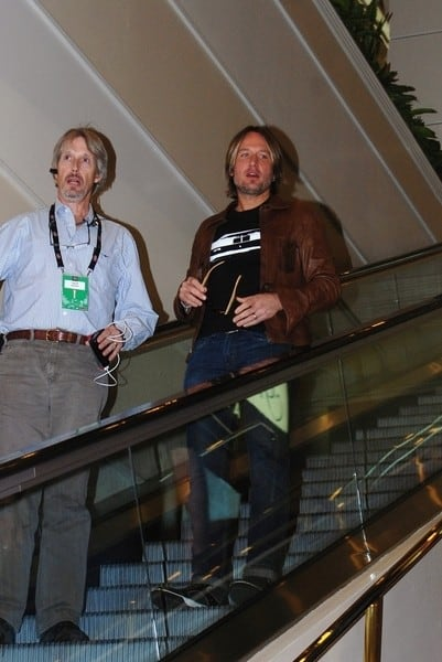 Keith Urban is seen at the MGM Hotel & Casino in Las Vegas, Nevada on April 1, 2011
